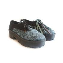 Clippate Mocasin Acordonado Mujer Plataforma Borcego Zapato