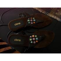 Sandalias De Gamuza, Color: Chocolate.marca:clona. Talle:37