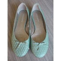 Chatitas Zapatos De Cuero Verde Agua American Pie Nro. 38