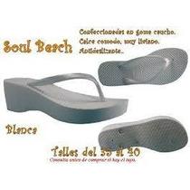 Ojotas Soul Beach High Las Super Altas*zona Munro*