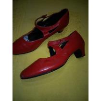 Zapatos Para Baile Español, N: 39 Color Rojo