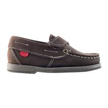 Zapatos Mocasines Niño Marron Ajuste Velcro Kickers 19 Al 26