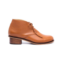 Zapato Bota Acordonada Con Taco Floater Marrón #225 -natacha