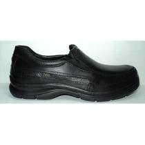 Zapato De Hombre Cuero Negro Tipo Super Confort Suela Febo