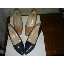 Zapatos De Dama Cabretilla El Azul Es Nuevo (valor Por Ambos