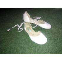 Sandalias De Cuero Rosa Tipo Bailarina