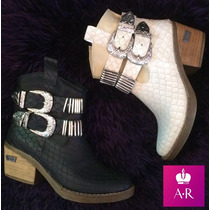 Zapato Bota Texana Con Hebilla Divina!! :)