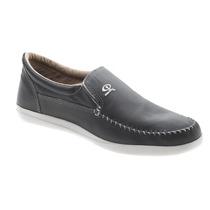 Zapato Náutico Cuero Gris (base Blanca)