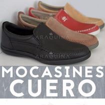 Zapatos Mocasin Cuero Hombre - Calzado Nautico - Araquina