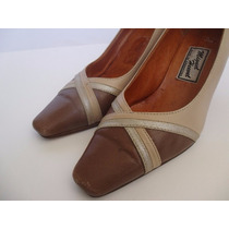 Zapatos De Mujer Num 37 Stilletto Bi Color Alto Taco 6,5cm
