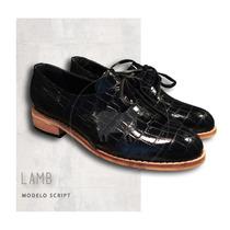 Zapatos Cuero Charol Croco.base De Madera Excelente Calidad!