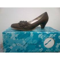 Zapatos De Cuero Lady Stork Nº 36