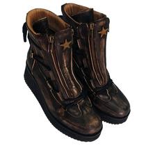 Botitas Borcegos Zapatos Mujer Botas Abotinados Cierre Cuero