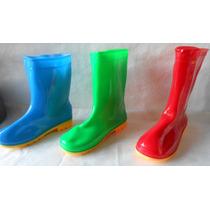 Botas De Lluvia 1/2caña Niños Tres Colores T. Del 26 Al 35