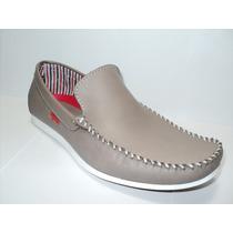 Zapato Mocasín Caballero En Cuero Vacuno Color Vizon