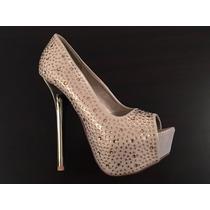 Zapatos Fiesta Mujer Stiletto Taco Fino 38 Levhe Importados