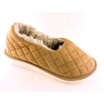 Pantuflas Polar Taco Goma Corderito Zapato Zapatilla Termica