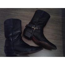 Botas Texanas De Cuero Negro - Jr Boots - Talle 43