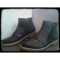 Botineta Zapatos Doble Cierre Simil Cuero Nuevos Modelos