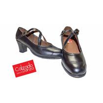 Zapatos Danza Flamenco Cuero ( Opcion Con Claveteado Y Goma)
