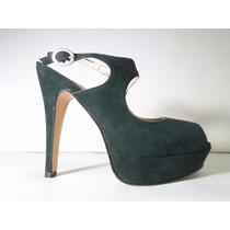 33 Designs - Art.600 - Zapato Gamuza Y Charol Con Plataforma