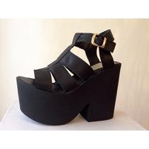 Zapatos Negros Plataforma Temporada Primavera Verano 2016