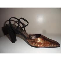 Zapatos Sandalias Fiesta Cuero Labrado Reptil Liquidación