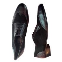 Zapatos Hombre Cuero Calzado Vestir Elegante Cordones Combin