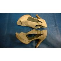 Sandalias Pulcera Stilettos N°37 Nuevos De Cuero-taco 10.5cm