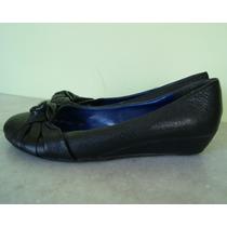 Zapatos De Cuero Vacuno. Taco Chino. Negro. Corre Lola