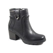 Botas Mujer Invierno Zapatos Chocolate Pespunte Taco 6426