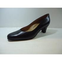 Zapato Acolchado Clásico Mujer Taco Evento Vestir Oficina