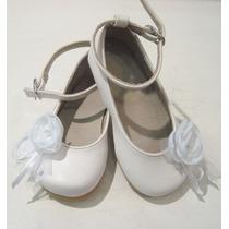 Zapatos Nenas Beba, Bautismo, Comunion, Blanco N° 20 Al 36