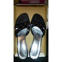 Zapatos Cuero Negro. Casi Sin Uso, Perfectos. Taco Bajo. T38