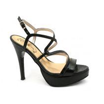 Sandalia Stiletto Negro Citadina Zenon - Nueva Colección