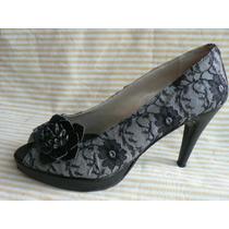 Zapato Sandalia Plataforma Encaje A Estrenar Nº 40