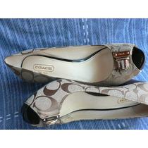 Zapato Coach Boquita De Pez Zapato Sandalia Nº 37 A Estrenar