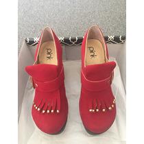 Zapatos Plataforma Rojos Pink T.35