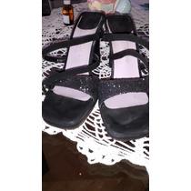Sandalia Fiesta Gamuza Y Brillo