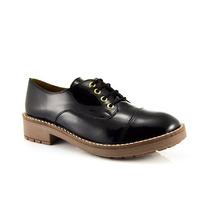 Zapatos Mujer Cuero Gutierrez Negro Charol La Leopolda