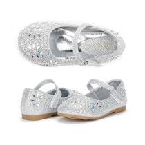 Zapatos Importados Nena, Fiesta, Plateados, Nuevos, Talle 21