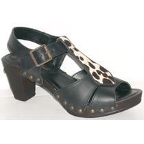 Sandalias Cuero Vacuno Lady Stork Zapatos Suecos