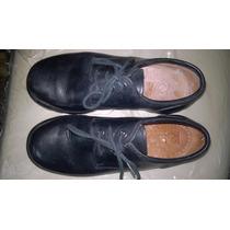 Zapatos Roble N° 33 Colegial De Cuero Y Forrados Por Dentro