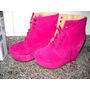 Botinetas,zapato Cerrado Con Cordones, Color Fucsia N° 40!!