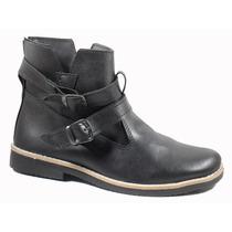 Borcego Mujer Zapato Hebillas Invierno Goma Crepina 175