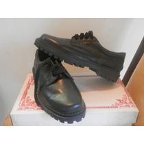 Zapatos Colegiales De Cuero Color Negro. Varios Talles.