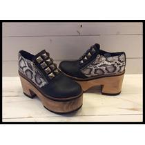 Morena Zapatos. Botas / Zuecos - Tachas - Cuero - 862jo