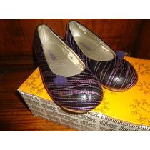Zapatos Chatitas Diez Indiecitos Nro 32 Color Uva, Divinos!