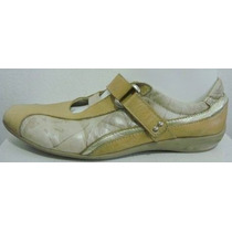 Zuca Zapatos 39 Cuero Vacuno Beige Y Dorado (ana.mar)