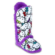 Pantuflas-botas Hello Kitty By Sanrio! Importadas Usa!unica